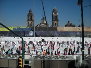 the Zócalo Icerink in Mexico City